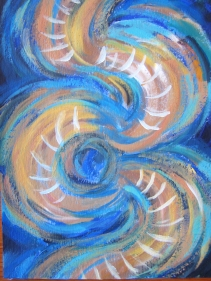 BLUE SWIRL LADDER
