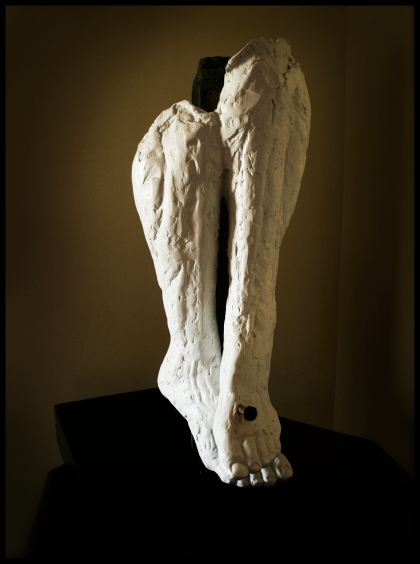 HIS FEET - Laurie A Stasi, Plaster, 30.5 x 13.5 x 27.5