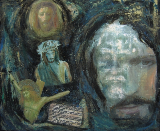 SEEK HIS FACE - Laurie A Stasi, Mixed Media,